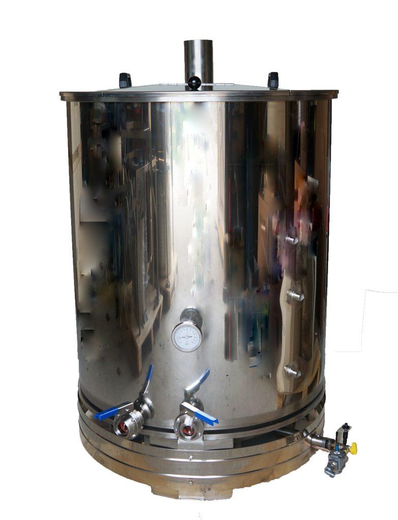CUVE INOX chauffe GAZ - 100 à 800 L