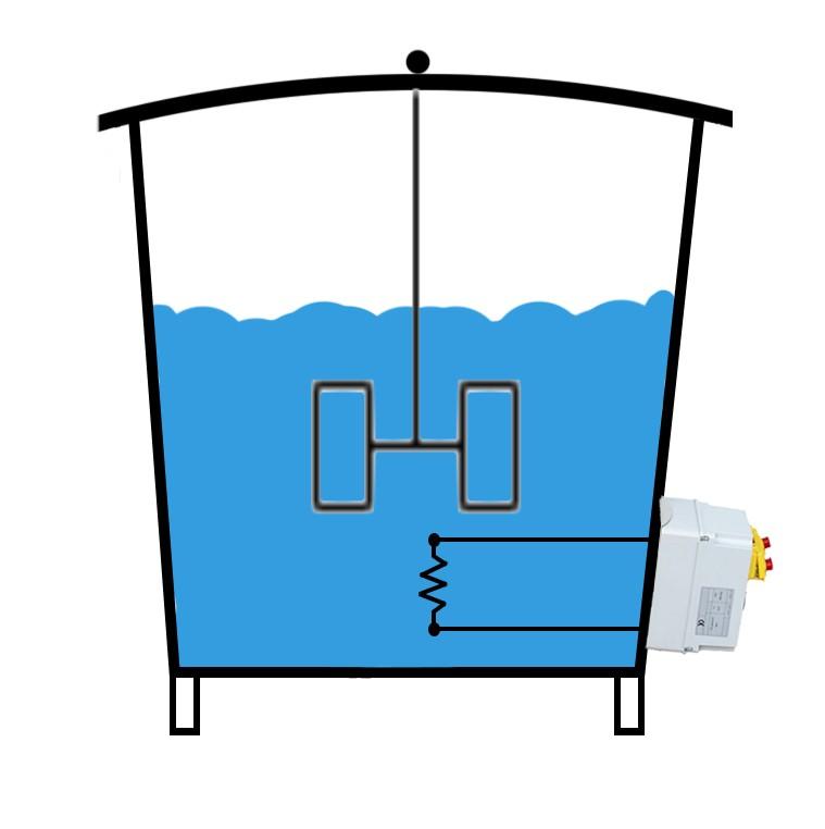cuves inox avec xhauffage gaz ou electrique + melangeur