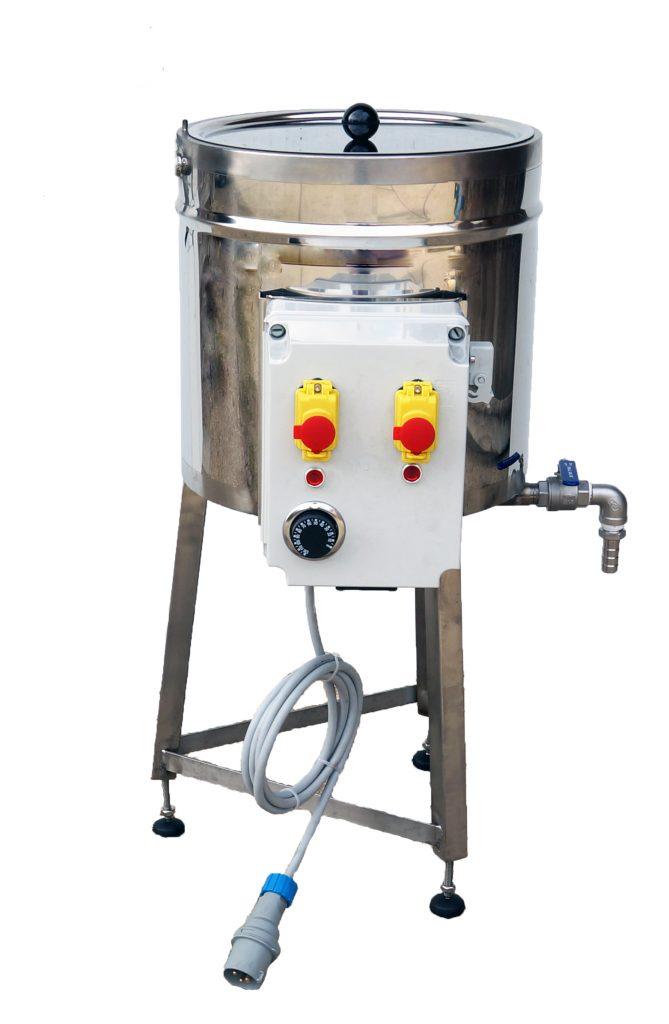 CUVE INOX électrique 25 litres - bain marie EAU - 95°C maxi