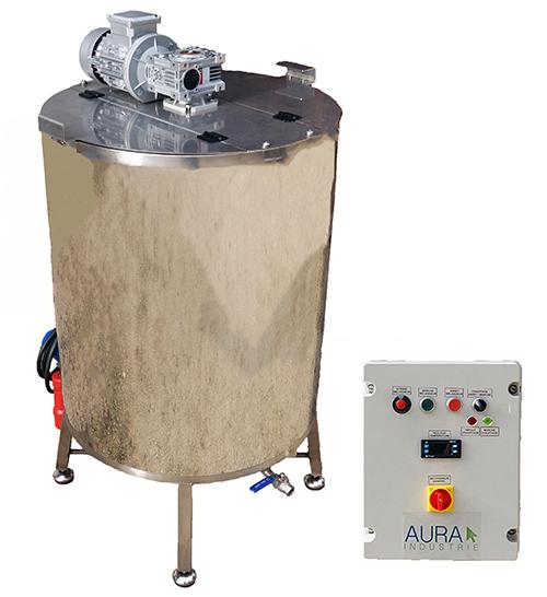 CUVE INOX gaz 90 à 800 L - bain marie HUILE 130°C + mélangeur