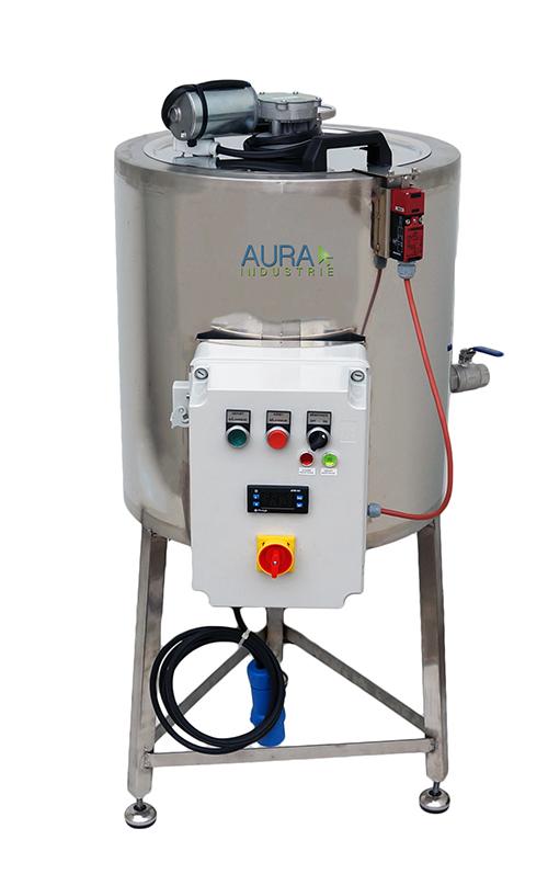CUVE INOX électrique 50L - bain marie EAU 95°C + mélangeur